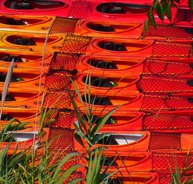 Location de matériel de kayak.